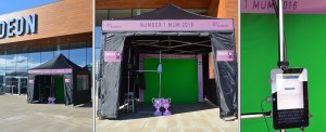 green screen hire outside marquee
