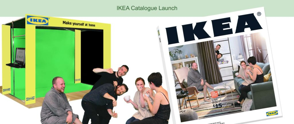 green screen IKEA event