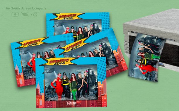 Green Screen Photos printed with branded frames
